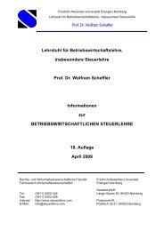 Lehrstuhl für Betriebswirtschaftslehre, insbesondere Steuerlehre ...