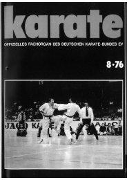 DKB-Fachorgan Nr. 8 - Chronik des Karate