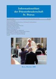 Priestertum - Priesterbruderschaft St. Petrus