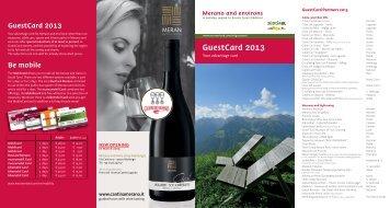 GuestCard 2013 - Meraner Land