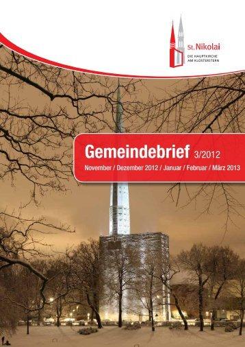 Gemeindebrief 03/2012 - Hauptkirche St. Nikolai