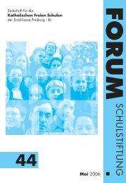 forum - Schulstiftung der Erzdiözese Freiburg
