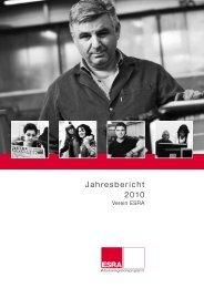 Jahresbericht 2010 ESRA Arbeitsintegration - Caritas Thurgau