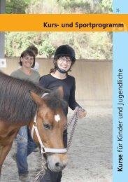 Kurs- und Sportprogramm Kurse für Kinder und Jugendliche
