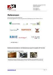 Referenzen - Manser Bild- und Ton
