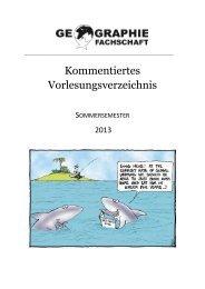 Sommersemester 2013 - Geographisches Institut der Universität ...