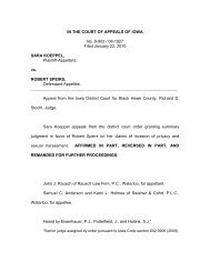 IN THE COURT OF APPEALS OF IOWA No. 9-902 / 08-1927 Filed ...