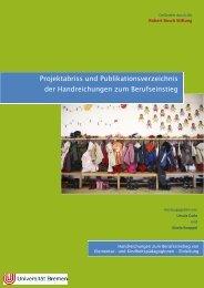 Projektabriss und Verzeichnis der Handreichungen - Universität ...