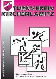 November 2011 91. Ausgabe - Turnverein Kirchenlamitz