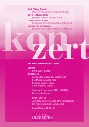 Programm Herbstkonzert 2009 - Stadtorchester Luzern