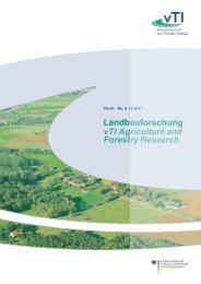 Landbauforschung vTI Agriculture and Forestry ... - 1. Januar 2008