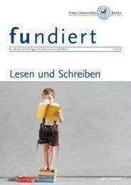 Lesen und Schreiben - Freie Universität Berlin