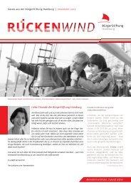 Rueckenwind November 2012 - BürgerStiftung Hamburg