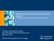 High Performance Computing in Pharmaceutical Research - HPC User Forum