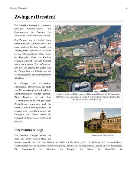 Zwinger Dresden Gfj Hosting De