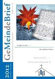November – Dezember 2012 - Evangelische Kirchengemeinde ...