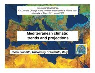 Mediterranean climate: trends and projections
