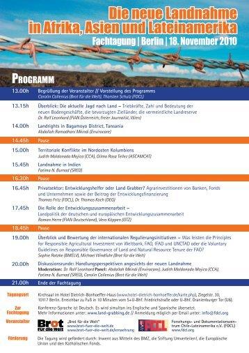 Tagungsprogramm - FDCL