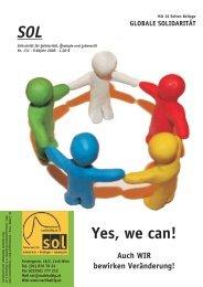 Yes, we can! - SOL - Menschen für Solidarität, Ökologie und Lebensstil