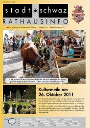 Rathausinfo Nr. 9 2011 - Schwaz