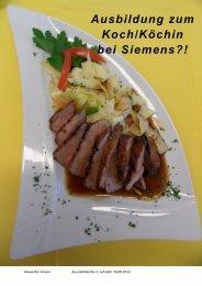 Ausbildung zum Koch/Köchin bei Siemens?! - Siemens Real Estate