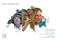 Bayer in der Schweiz - 2011