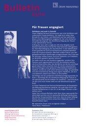 Bulletin-Ausgabe als PDF (1493.2 kb) - Frauenzentralen