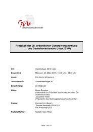 Protokoll der 29. ordentlichen Generalversammlung des ...
