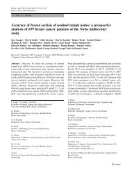 Accuracy of frozen section of sentinel lymph nodes: a prospective ...