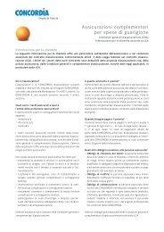 CGA Assicurazioni complementari per spese di ... - Concordia