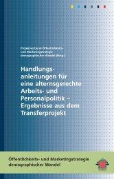 Alt und Jung im Betrieb - Intergenerationelle ... - Demotrans