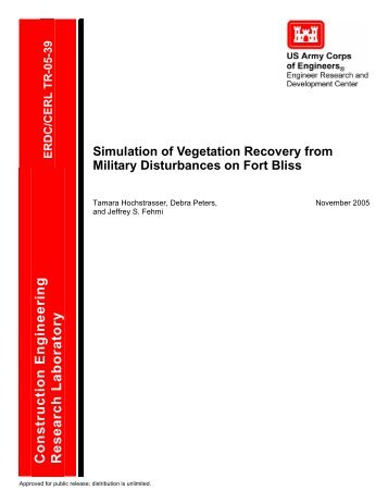 Simulation of Vegetation Recovery from Military Disturbances on