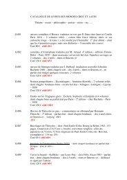 Catalogue de livres des mondes grec et latin - Livre Rare Book