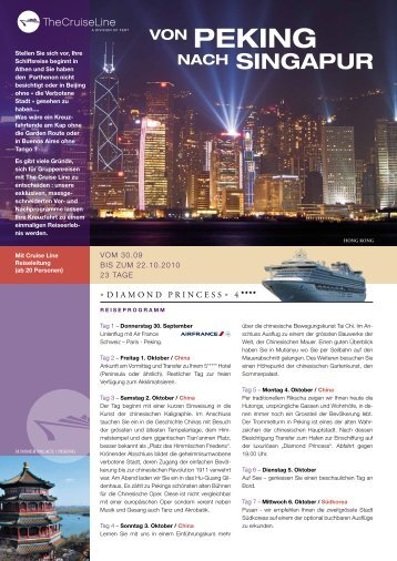 VON PEKING NACH SINGAPUR - The Cruise Line AG