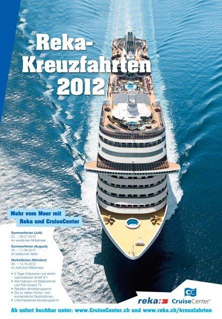 Reka- Kreuzfahrten 2012 - Cruisecenter AG