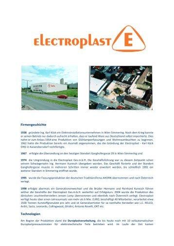 Electroplast Firmengeschichte - Althofen