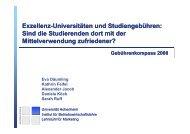 Universitäten - Lehrstuhl für Marketing I - Universität Hohenheim