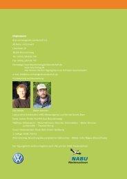 Tagungsband Einführung - AG Natur und Umwelt