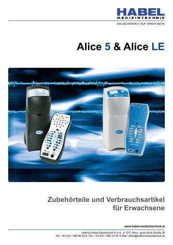 Alice 5 & Alice LE - HABEL Medizintechnik