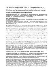Veröffentlichung für DAB 11/2011 - Architektenkammer Sachsen