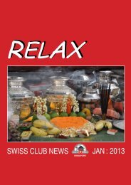 relaxing aromatherapy massage and a healthy meal - Swiss Club