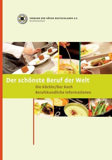 Der schönste Beruf der Welt - die Köchin - Verband der Köche ...
