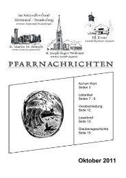 Oktober 2011 - Pastoralverbund Hüttental-Freudenberg
