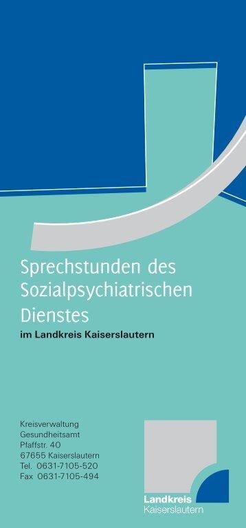 Sprechstunden des Sozialpsychiatrischen Dienstes  - Landkreis ...