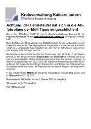 Kreisverwaltung Kaiserslautern - Landkreis Kaiserslautern