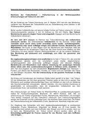 Änderung der Tollwut-Verordnung / Monitoring Indikatortiere