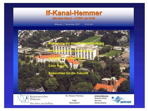 I f -Kanal-Hemmer, aktueller Stand - bei der Kaiserswerther Diakonie