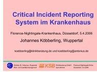 Critical Incident Reporting System im Krankenhaus - bei der ...