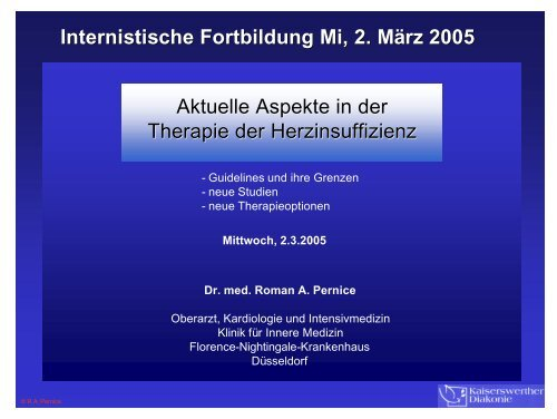 Aktuelle Aspekte HF Pernice 2-3-05 - bei der Kaiserswerther Diakonie