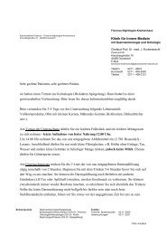 Klinik für Innere Medizin Sehr geehrte Patientin, sehr geehrter ...